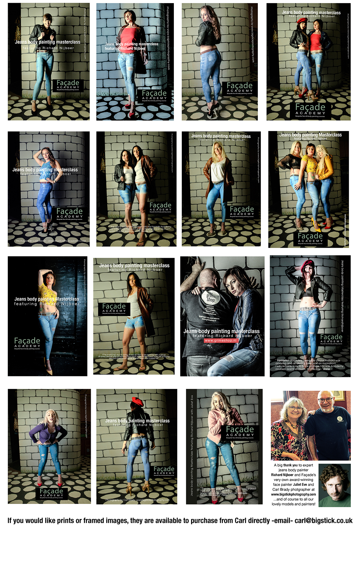 Jeans body painting masterclass images of models in painted jeans