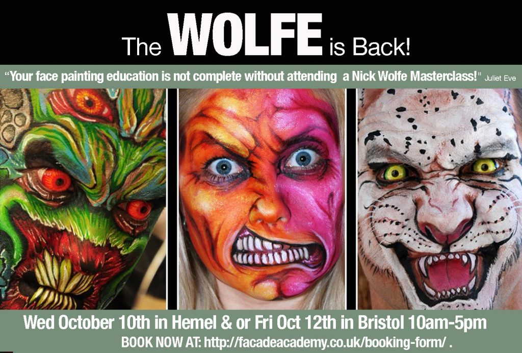 Façade Academy presents Nick Wolfe face painting Masterclass