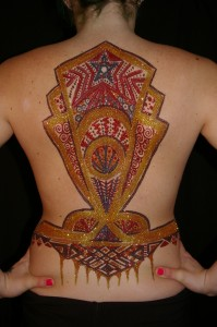 glitter tat art deco back