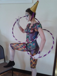 Harlequin Clown Bodypaint - Leisl as my beautiful model!